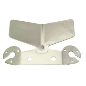 Large, stainless steel bumper protector, including socket mountings